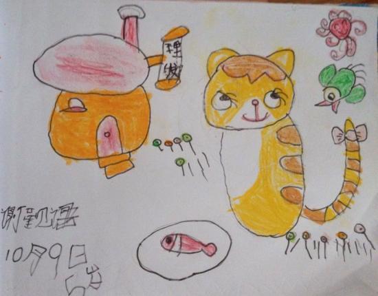 儿童画图片大全可爱小兔子猫咪