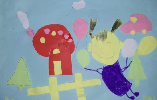 宝宝的剪贴画 我眼中的幼儿园